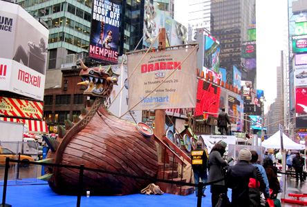 How to train your dragon the red band project yes a viking ship in the middle of times square at first we didnt know what was going on but as we ventured closer we realized that the big ship was ccuart Images