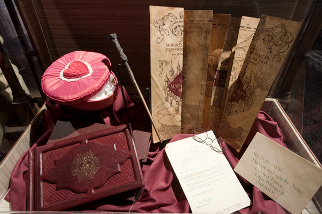 The infamous Marauder's Map and other miscellaneous items associated with Harry Potter.