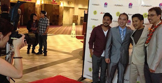 The Basco brothers, Ryan Kawamoto, and James Sereno at last night's premiere at Ward.