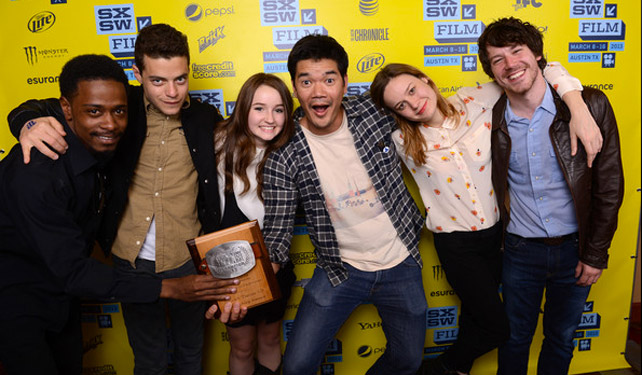 Destin Daniel Cretton (center) with the cast & crew from his award winning feature Short Term 12.