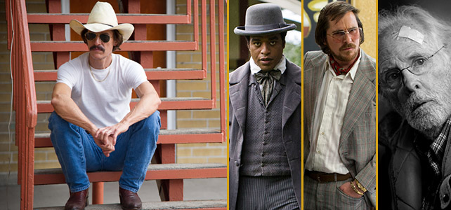 McChonaughey from Dallas Buyers Club, Ejiofor, Bale, and Dern.