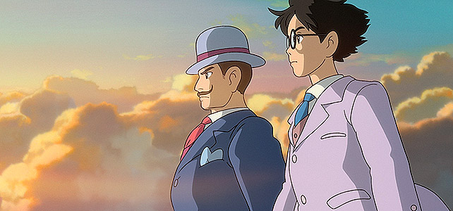 Is that Jiro, or Hayao Miyazaki riding off into the sunset?