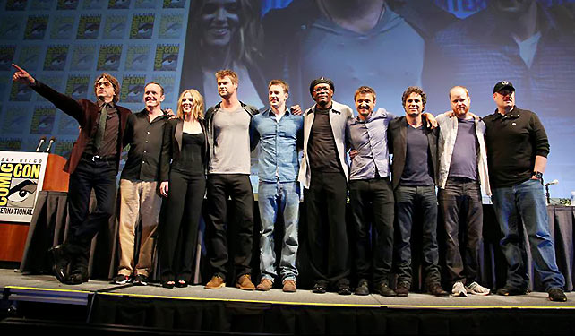 Assembling aUniverse is the first in a two part series (and potentially ongoing series) that takes a look at Marvel's strategy in building their cinematic universe. Pictured above, the announcement of The Avengers at the 2010 Comic Con.