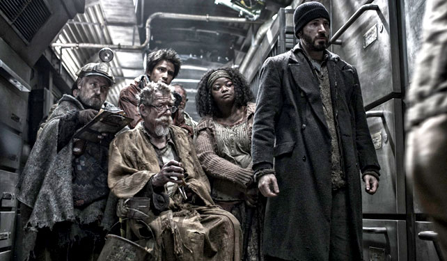 Yes, that's Captain America himself Chris Evans leading the way, this time in Snowpiercer.