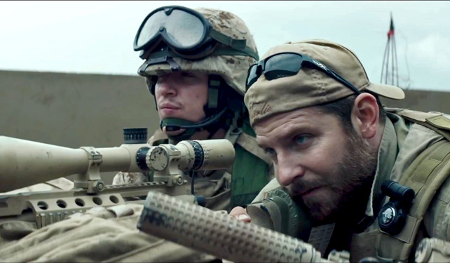 """Do you have eyes on this?"" Bradley Cooper scopes out the last crop of films from last year that you haven't had a chance to see yet."