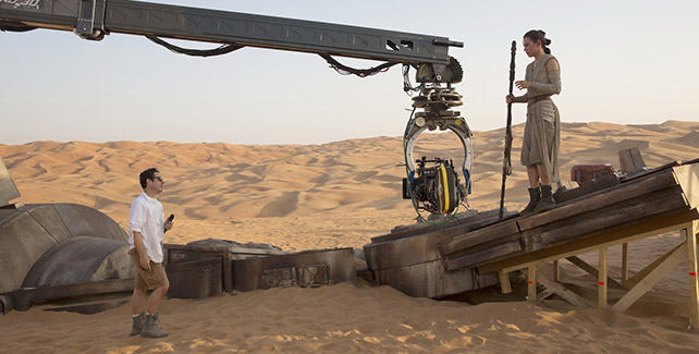 JJ Abrams at the helm of The Force Awakens.